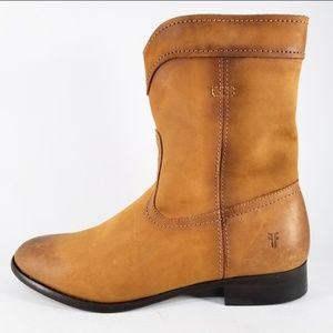 NEW FRYE Cara Roper Short Leather Boots- Size 7